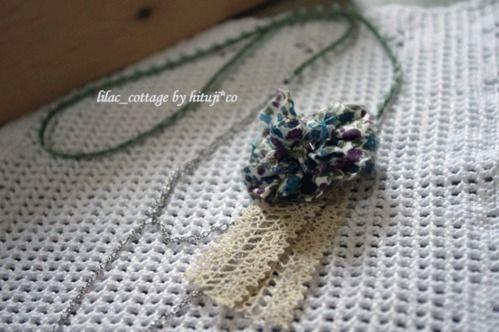 裂き布ポンポン コサージュの作り方 ソーイング 編み物 手芸