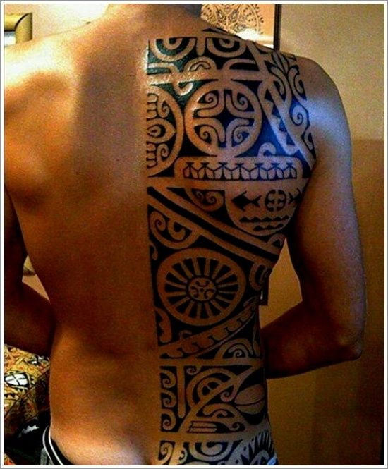 30 Maori Tattoos To Rep Your Roots | Tribal back tattoos ...