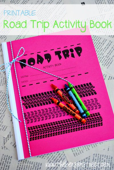 Printable Road Trip Book - great idea for long trips