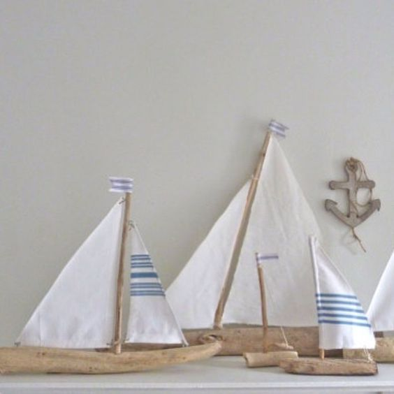 The one on the left is sailing away to California today. Bon voyage ⚓ #driftwood #sailing #nautical #boats #beachcomber #etsy #handmade #Padgram