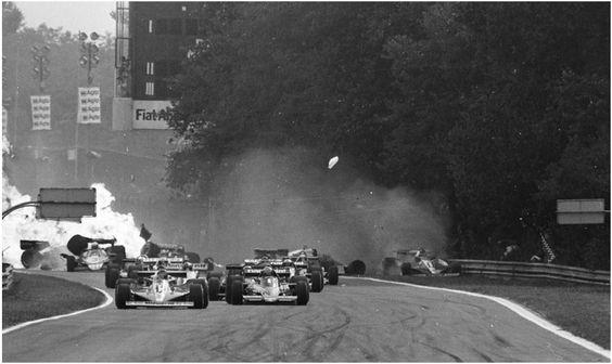 Crash au départ du GP Italie 1978