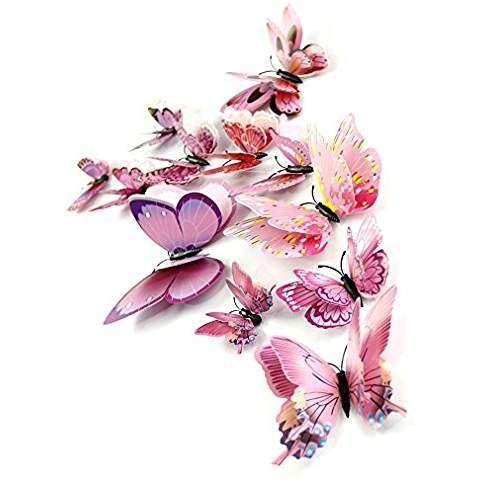 Malloom 12x 3d Papillon Chambre Sticker Mural D Aimant De