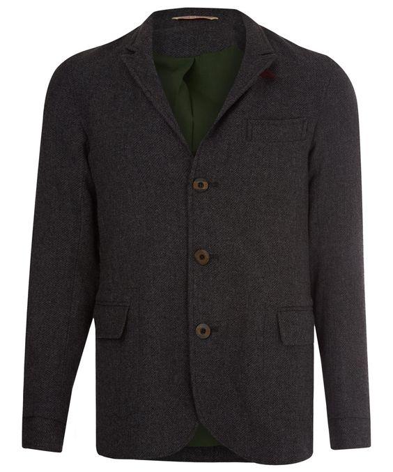 Oliver Spencer Grey Portland Wool Jacket