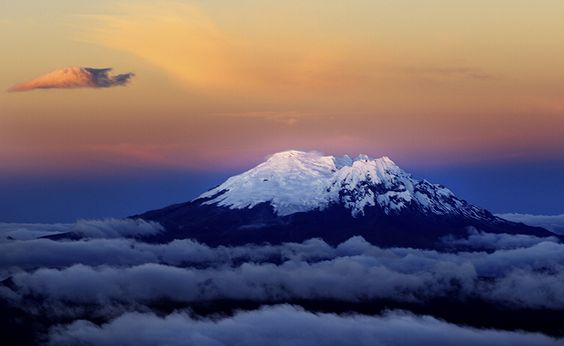 Andes Volcanoes | Chimborazo Volcano, Cordillera Occidental range, Andes Mountains ...