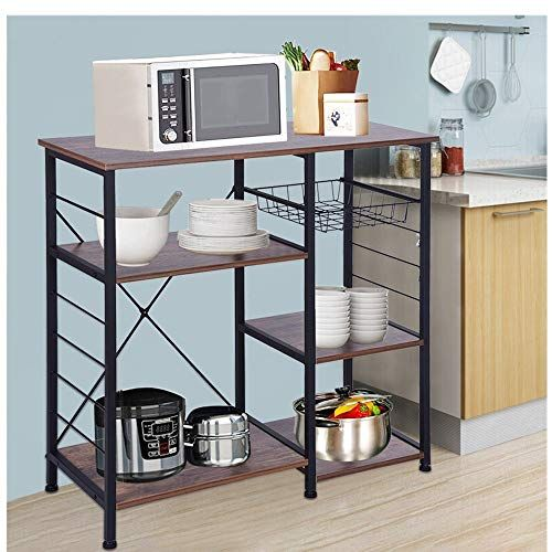 3 Tier Wood Kitchen Baker S Rack Microwave Oven Stand Storage