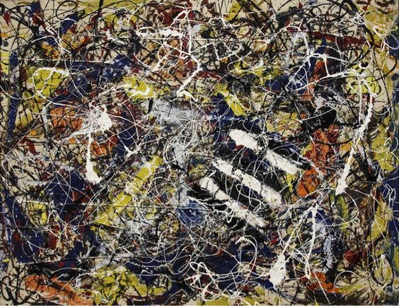 """Number 17A"" by Jackson Pollock, 1948"
