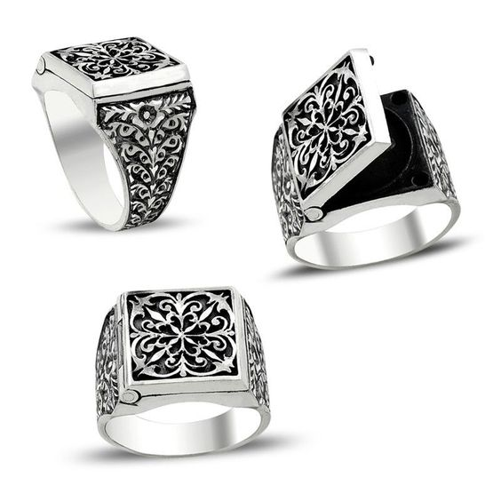 Details about  /Taurus Head Design 925 Sterling Silver Turkish Handmade Gothic Men Ring All Size