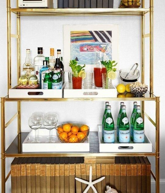 Bookshelf Bar via kitchn