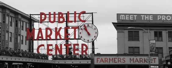 The market in Seattle, Washington.  I thoroughly enjoyed my visit and am looking forward to a return visit.