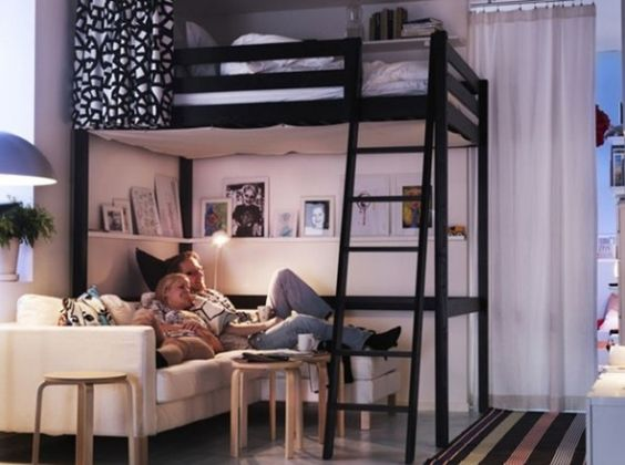 recherche studios and mezzanine on pinterest. Black Bedroom Furniture Sets. Home Design Ideas