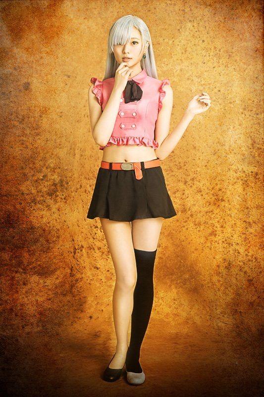『七つの大罪』の舞台に出演した際のエリザベス・リオネス役の梅澤美波の画像