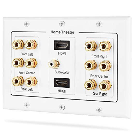 Amazon Fosmon ホームシアタースピーカー壁プレートコンセント