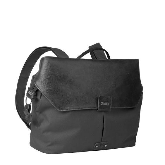 Unisex Taschen :: OLLI :: O10 | ZWEI Taschen Rucksack :: Nylon :: Traveler :: leicht :: schwarz