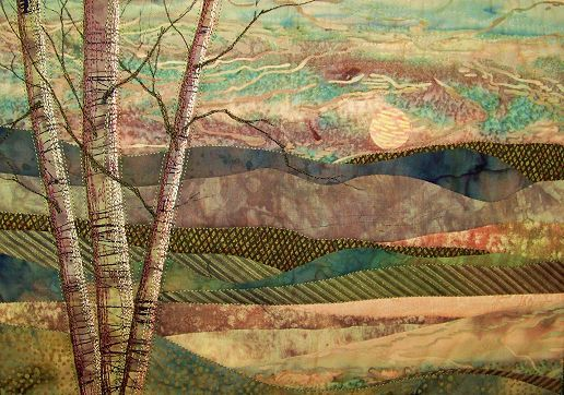 Mountain landscape judy lilly embroidery pinterest for Mountain landscape design