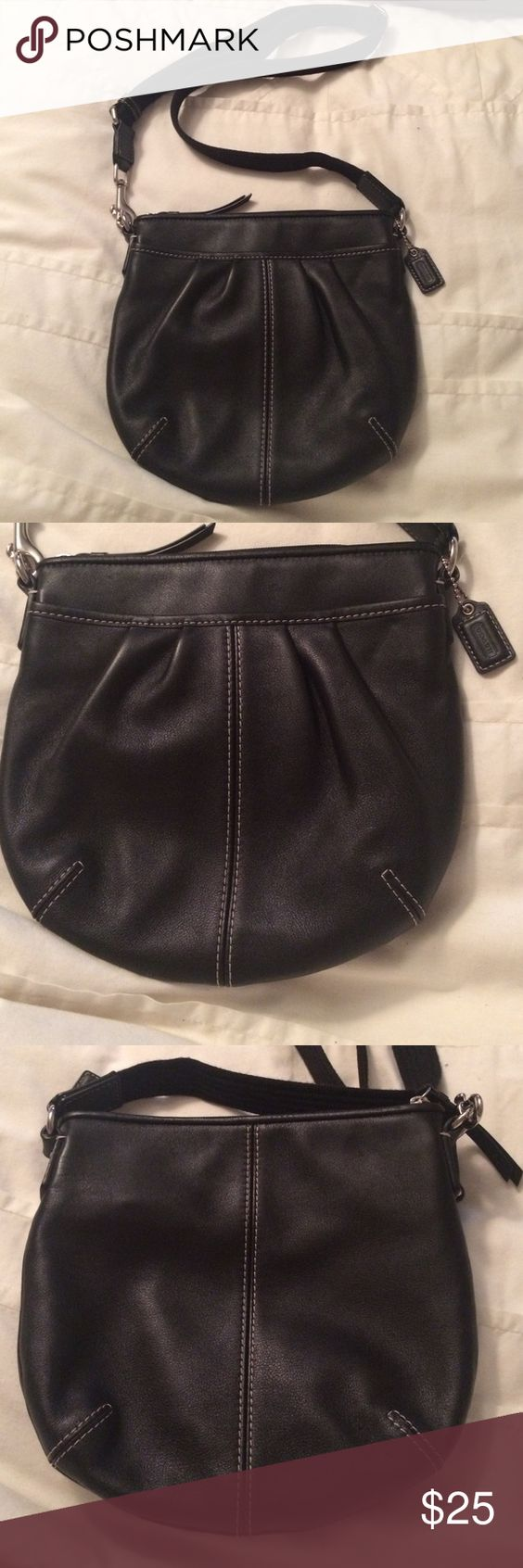 Authentic coach black pleated leather crossbody Being offered is a new no tags authentic coach black pleated leather crossbody handbag that measures 9x8.5 and has an adjustable crossbody strap. Smoke free home I do bundle and take reasonable offers. Coach Bags Crossbody Bags