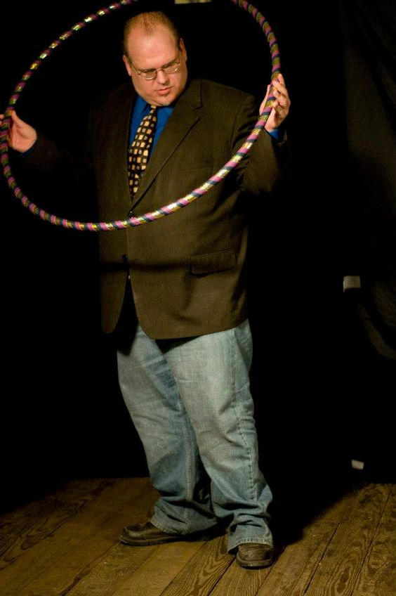 This is the story: On Sept 5th showing of Questions Live (www,texasfunandevents,com to watch the episode. ) We have a hoopstress Misty Smith come on and spin her hoops to the joy of all. Well, oh course, they wanted me to try,   This is about as far as I got.   (What is your CenTex Bliss - Be a Bliss Poster - Email IpinBliss@Texasfunandevents.com and join the fun.