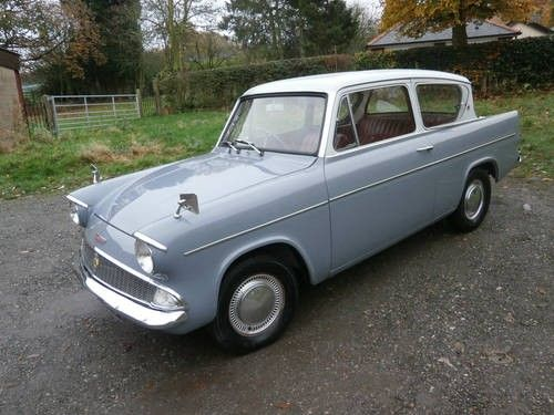 For Sale 1962 Ford Anglia 105e Deluxe Grey White 1 Owner