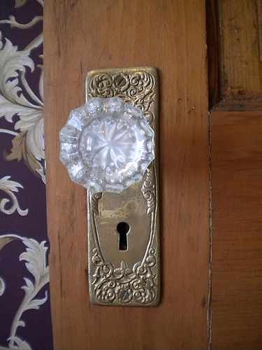 Glass door knobs: