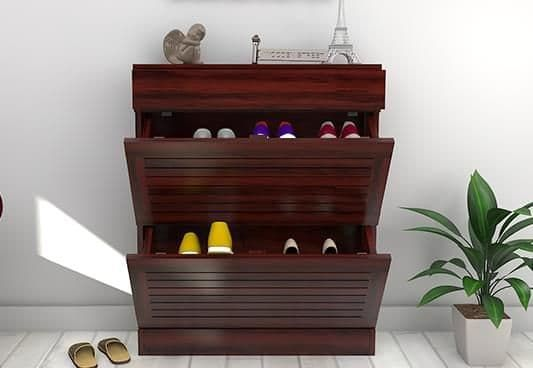Modish Catlin Shoe Rack In Mahogany Finish Durable Stylish Wooden Shoe Rack Online Available At Best And M Wooden Shoe Racks Wooden Shoes Wooden Shoe Cabinet
