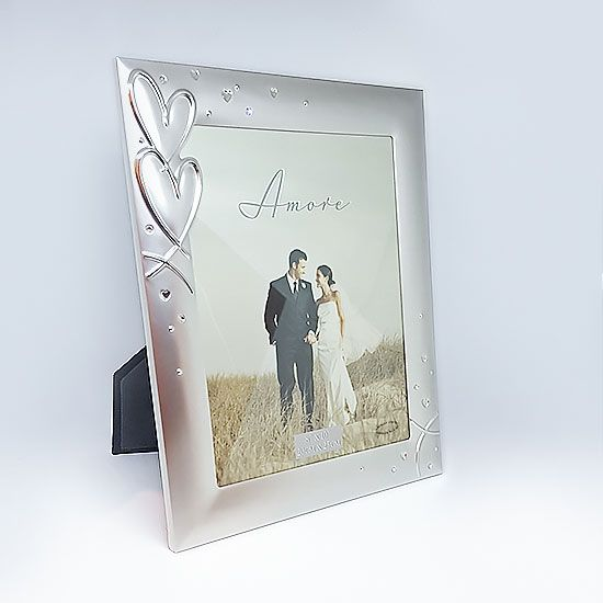 Love You Forever Frame 8 X 10 Beautiful Silver Plated From With Love Hearts And Crystals This Frame Fits A 8 Forever Frame Love You Forever Engagement Frames