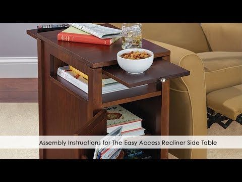 The Easy Access Recliner Side Table Hammacher Schlemmer Chair Side Table Recliner Table Side Table Design