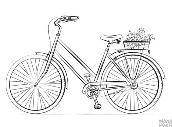 How to draw a bicycle | Step by step Drawing tutorials ...