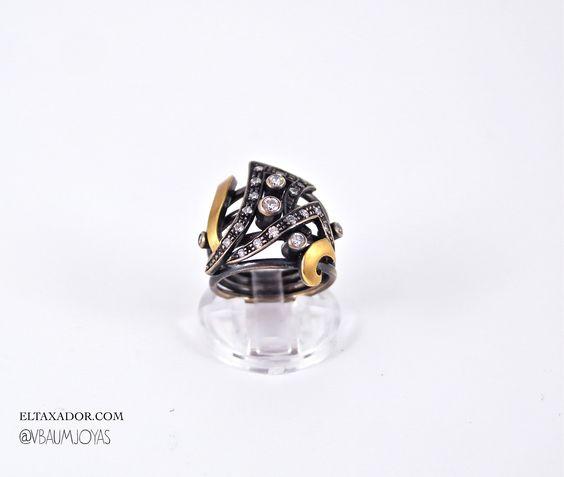 #sterlingsilver #ring #rocker #jewellerytrends #fashionjewellery .Shop online at  http://stores.ebay.es/ValentinaBaumJoyas  www.eltaxador.com Twitter @VBaumJoyas