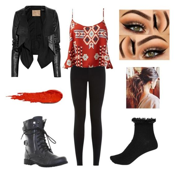 """""""Day out"""" by alicia-brockett ❤ liked on Polyvore featuring Forever 21, River Island, Max Azria, NARS Cosmetics, women's clothing, women's fashion, women, female, woman and misses"""
