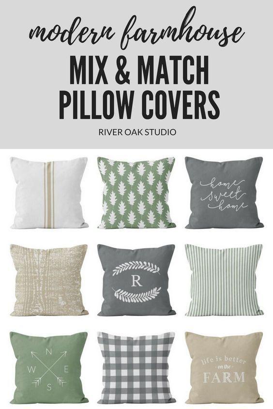 22 Farmhouse Set Pillows To Not Miss Interior Design Farmhouse Pillows Pillows Farm House Colors