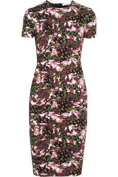 Givenchy Floral-print cotton stretch-jersey dress   NET-A-PORTER