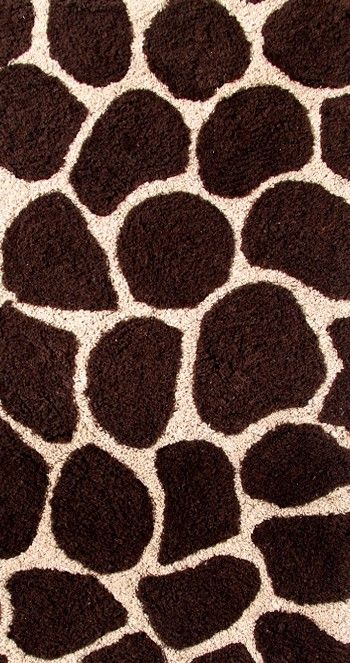 2-Piece Bath Rug Set in Chocolate / Beige - Giraffe - 26988 - Bathroom Accessories
