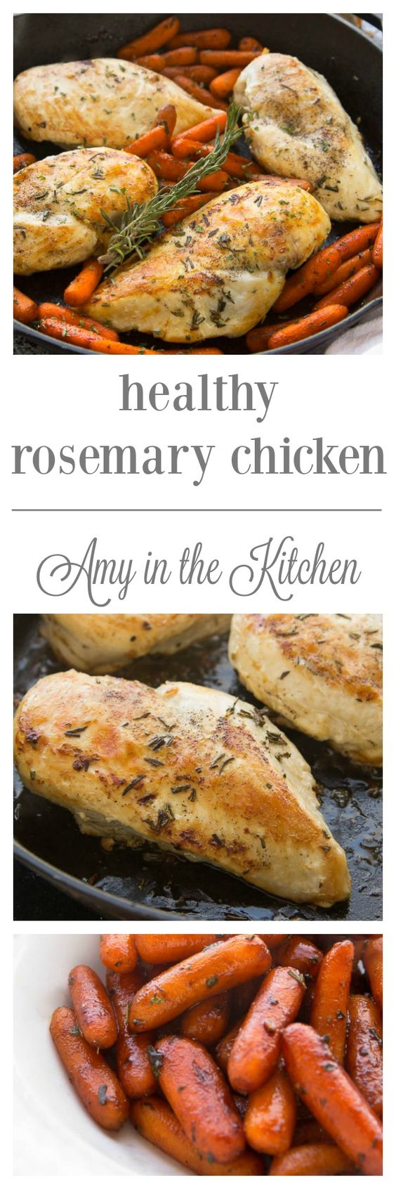 Baked Rosemary Chicken | This savory chicken dish is sure to hit the spot on a cold day. It's flavored with earthy rosemary and garlic. Absolutely delicious! | AmyintheKitchen.com