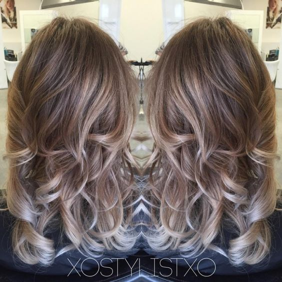 Smokey pearl beige balayage before and after, , News. Ash Brown And BlondeAsh
