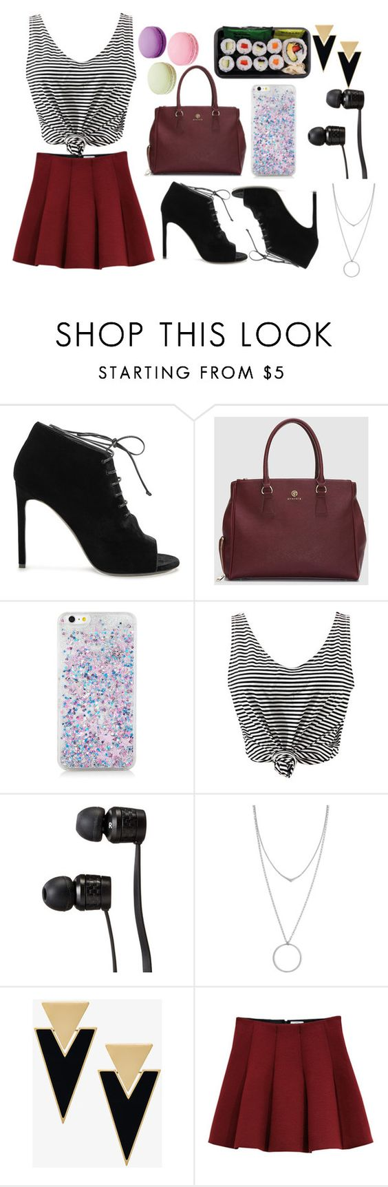 """The usual"" by bells202 ❤ liked on Polyvore featuring Yves Saint Laurent, WithChic, Vans, Botkier, Outstanding Ordinary and Ladurée"
