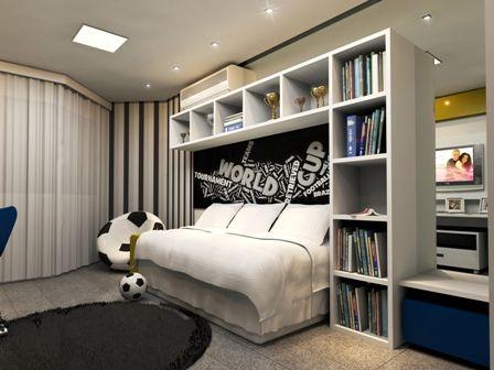 Dormitorios chicos varones jovencitos habitacion joaquin for Vinilos habitacion juvenil chico