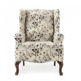 SureFit Housse de fauteuil à oreilles « Bellwood » extensible à imprimé - Sears