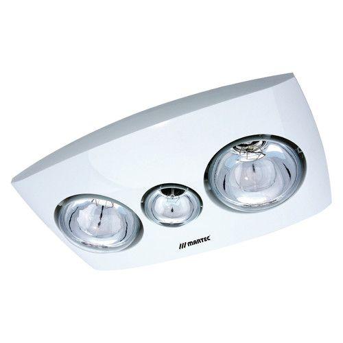 Contour 2 Heat 3 In 1 Bathroom Heater Fan And Light In White Zizo
