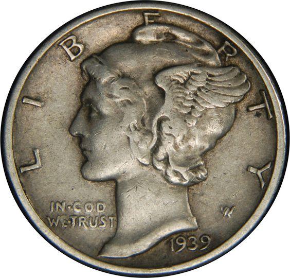 1939 D Mercury Dime: