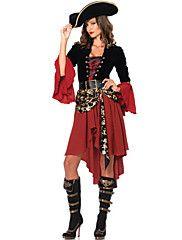 女性用 用- Halloween/カーニバル - 海賊 - ドレス/ベルト/ハット - 付属 – USD $ 56.99
