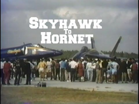 Blue Angels Skyhawk to Hornet