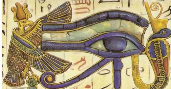 Eye of Horus meaning: Horus's left eye was related to the Moon, while his right eye was identified with the sun