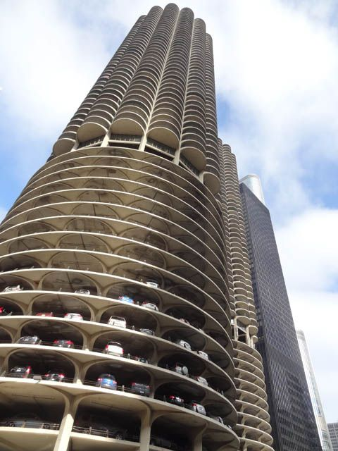 """Marina City"" designed by Bertrand Goldberg"