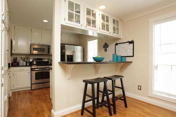 Best Good Idea For Updating Cabinets Over A Breakfast Bar This 400 x 300
