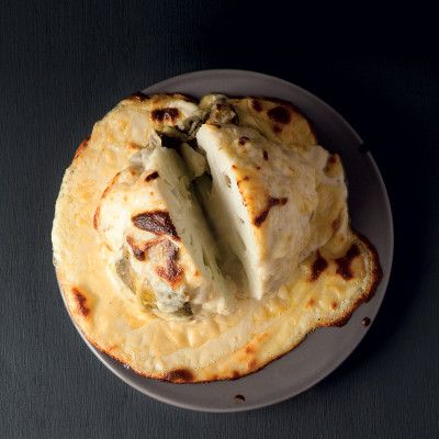 Taste Mag | Whole baked cauliflower with cheese sauce @ http://taste.co.za/recipes/whole-baked-cauliflower-with-cheese-sauce/