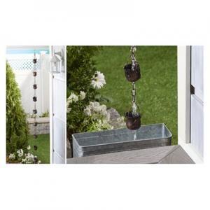 Iron Frog & Bucket Design 10-Cup Rain Chain