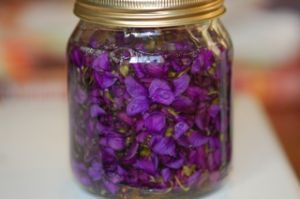 Violets infused with honey...