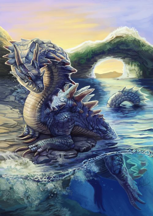 Lagiacrus chillin on a rocky shore! I think this was the hardest of the set to…