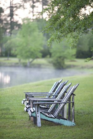 .: Lakeside Cozy, Adirondack Chairs, Lake Life, Peaceful Summertime, Lawn Chairs