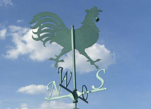 Wetterhahn mit Windrose für das Torhaus im Mullewapp Land im Zoo Hannover