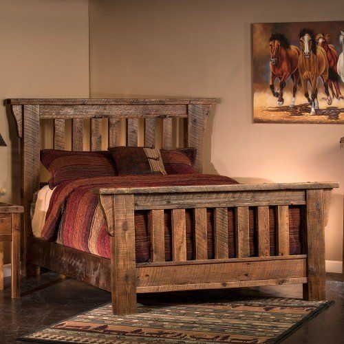 Rocky Creek Reclaimed Barn Wood Bed Rustic Bed Frame Rustic